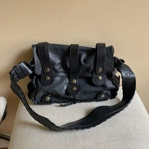 CHLOE' Silverado black leather satchel handbag